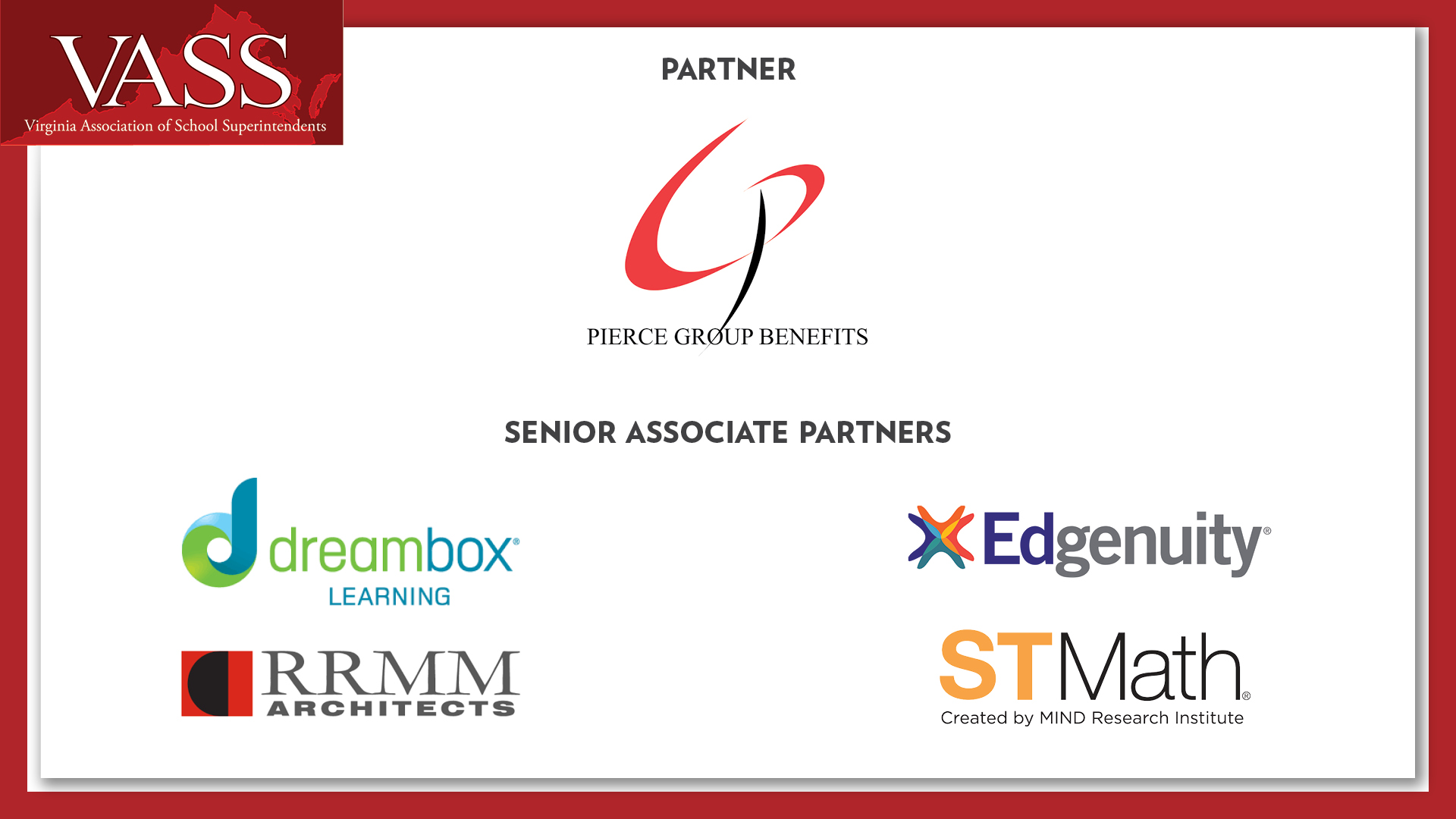 VASS Thanks our Business Partners and Senior Associate Partners